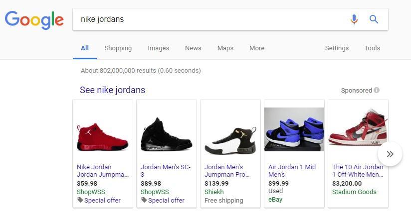 Google shopping revisa SERP