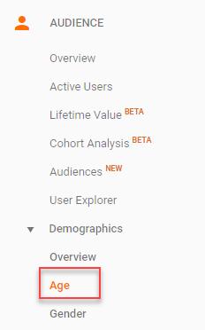 información demográfica de google analytics