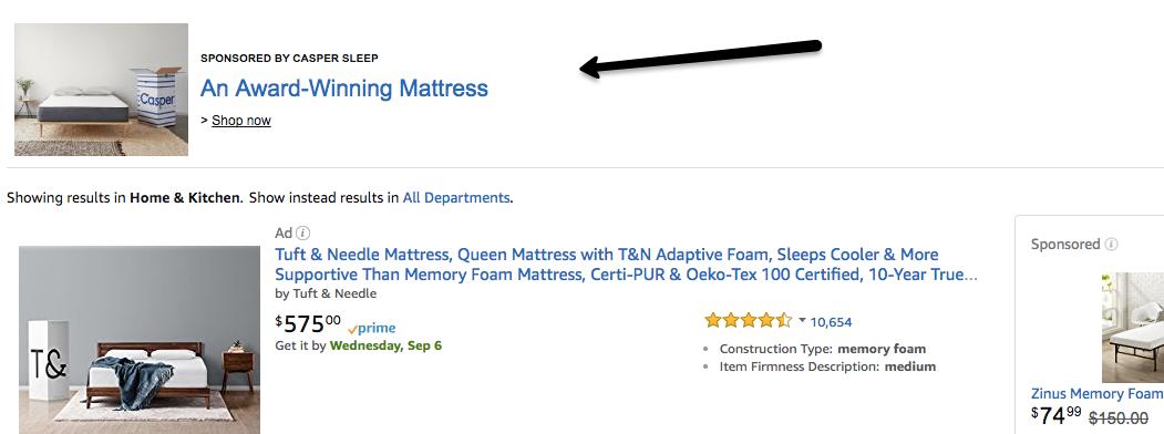 Guía para principiantes de publicidad en anuncios de búsqueda de titulares de Amazon