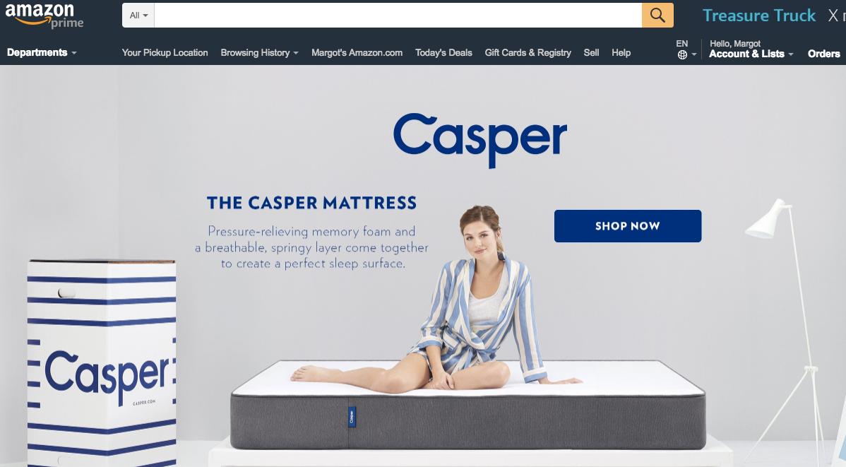 Guía para principiantes de publicidad en la página de inicio de Amazon ejemplo