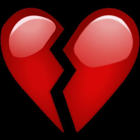 Resultado de imagen para el corazón roto emoji