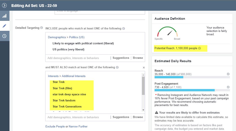 estrategias de orientación para anuncios de Facebook