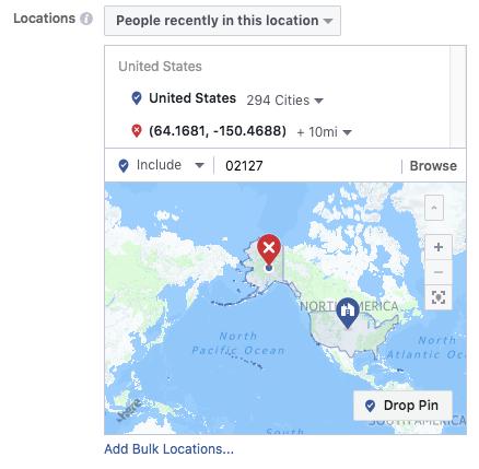orientación geográfica para anuncios de instagram
