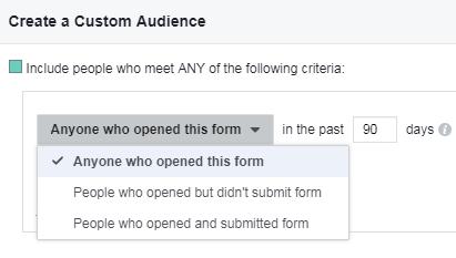 Los anunciantes de b2b pueden crear audiencias personalizadas en función de las interacciones con los principales anuncios de Facebook.