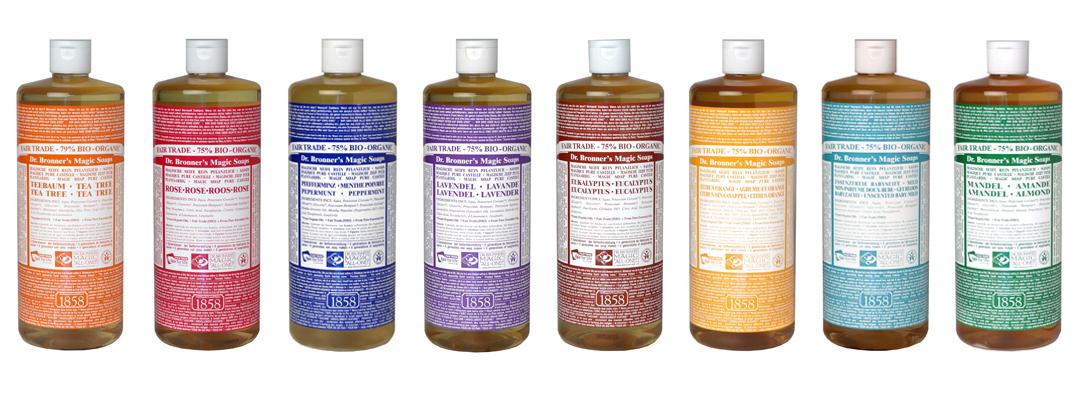 Comercialización ética del jabón líquido del Dr. Bronner