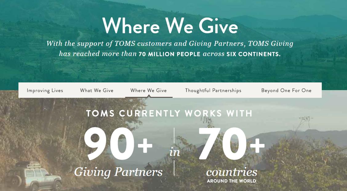 Marketing ético TOMS zapatos filantropía