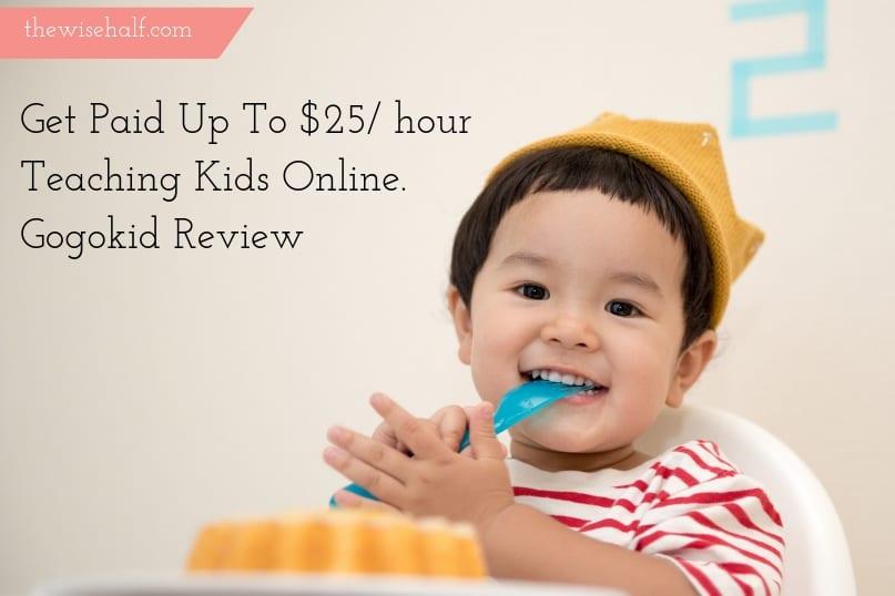 Get Paid up to $25/ hour teaching kids. Work at Gogokid