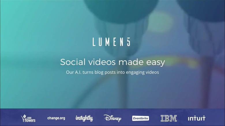 El mejor software de edición de video para principiantes Lumen5