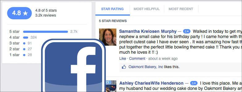 Consejos de marketing local Reseñas de Facebook