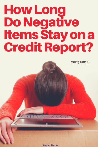 Los elementos negativos, como pagos perdidos y quiebras, tienen un gran impacto en su puntaje de crédito. Vea cuánto tiempo lo perseguirá cada uno de esos elementos al permanecer en un informe de crédito. A menudo es mucho más largo de lo que piensas.