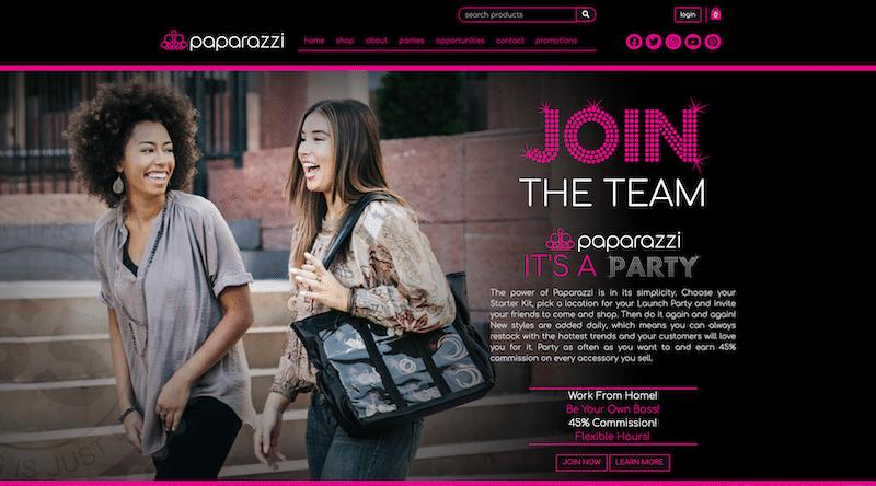 Sitio web de accesorios Paparazzi