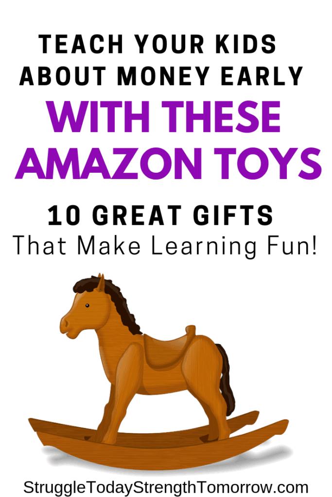 """enseñar a los niños sobre el dinero y ayudarlos a comprenderlo es importante para criar adultos financieramente responsables. Vea estos 10 juguetes de Amazon que son el regalo educativo perfecto. ¡que el aprendizaje sea divertido! """"ancho ="""" 170 """"altura ="""" 473"""