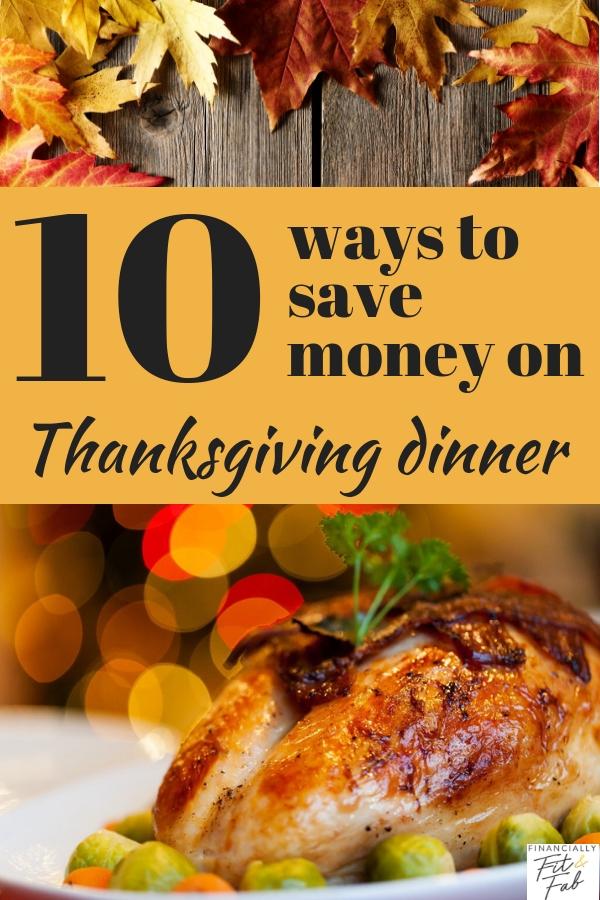 10 maneras de ahorrar dinero en la cena de Acción de Gracias
