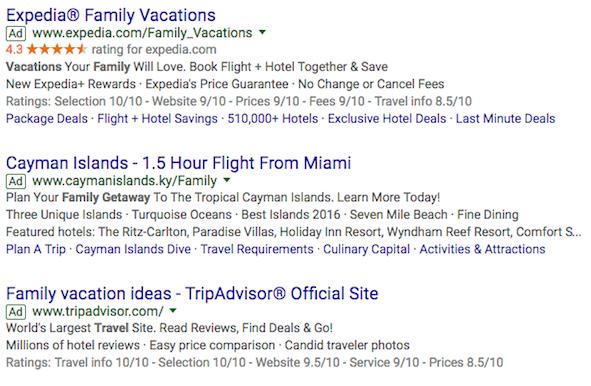 anuncios de viajes google