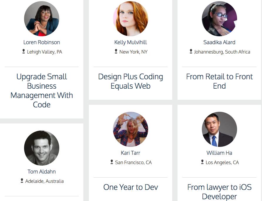 Páginas de testimonios de clientes Codecademy