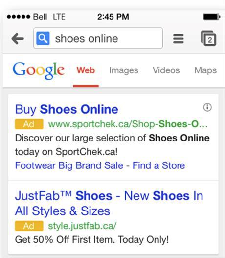 palabras clave de copia de anuncios para móviles