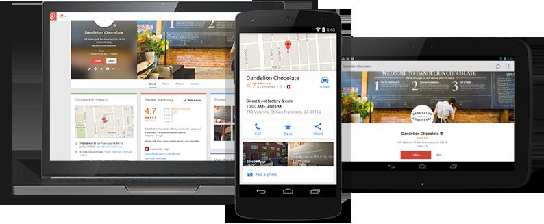 Consejos de marketing local Ejemplo de listado de Google My Business