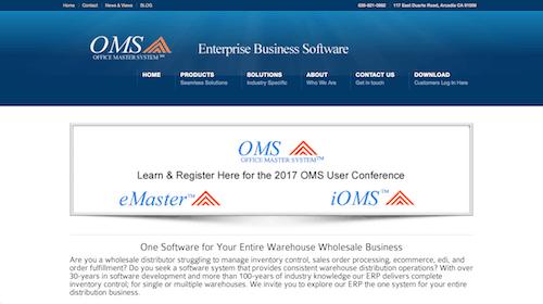 Software de gestión de inventario OMS ERP