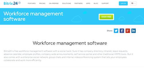 Software de gestión de fuerza de trabajo Bitrix