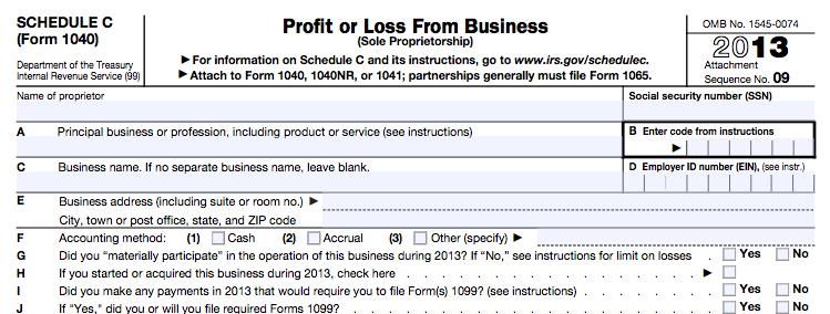 Guía del profesional independiente sobre impuestos Formulario 1040 del Anexo C del IRS