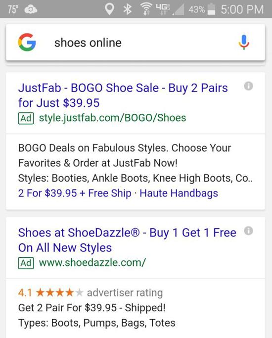 ofertas de anuncios móviles para bogo