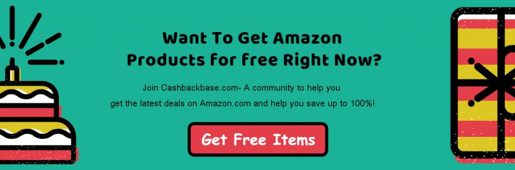 obtener un artículo gratis en Cashbackbase
