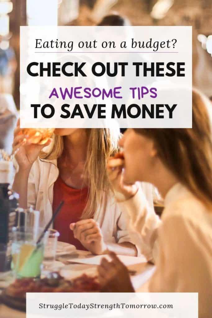 Comer fuera con un presupuesto ajustado es posible. ¡Haz clic para ver cómo puedes hacerlo! # presupuesto #savingmoney #frugal #pennypinching #restaurant #eatingout