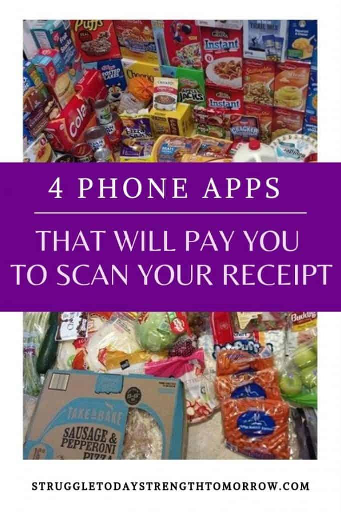 Diferentes formas de ganar dinero con sus recibos de compras. 4 aplicaciones de teléfono que le pagarán para ahorrar dinero escaneando sus recibos de compras. #compras #makemoney #earnmoney #scanreceipts #phoneapps #sidehustle #grocerybudget