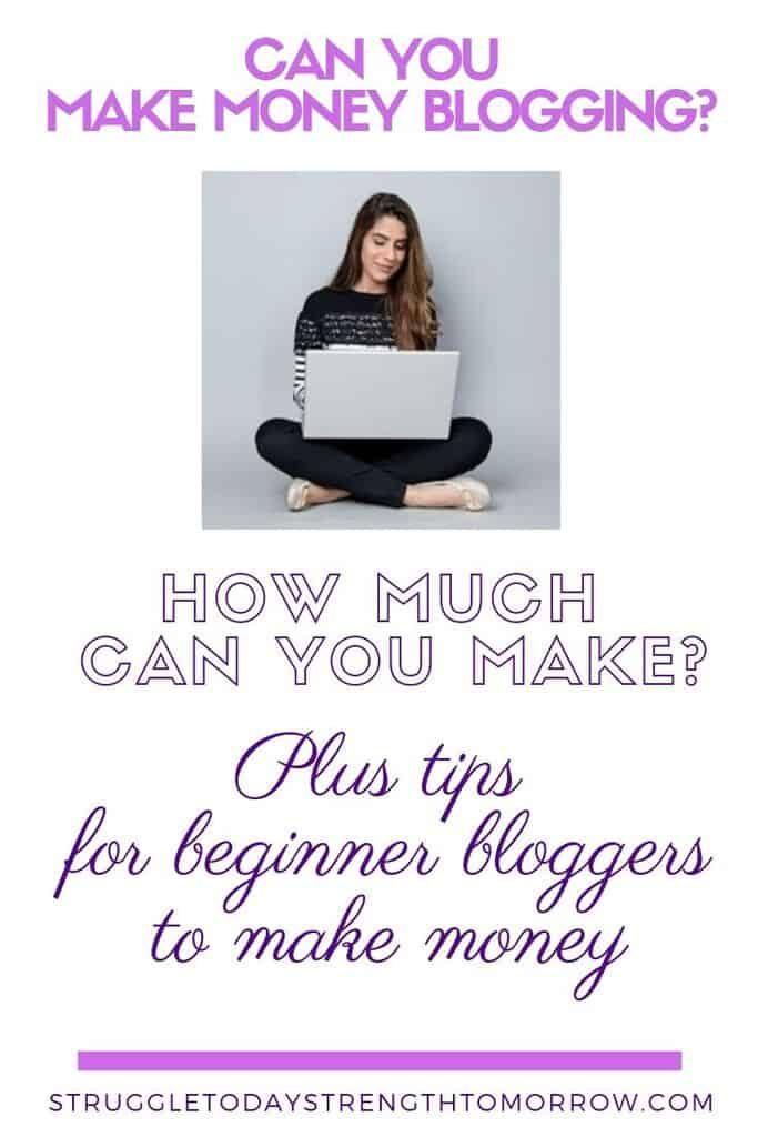 ¿Puedes ganar dinero blogueando? Vea cuánto puede ganar y consejos para que los blogueros principiantes obtengan ingresos de su hogar. #blogging #makemoneyonline #workfromhome #blogger #bloggingtips