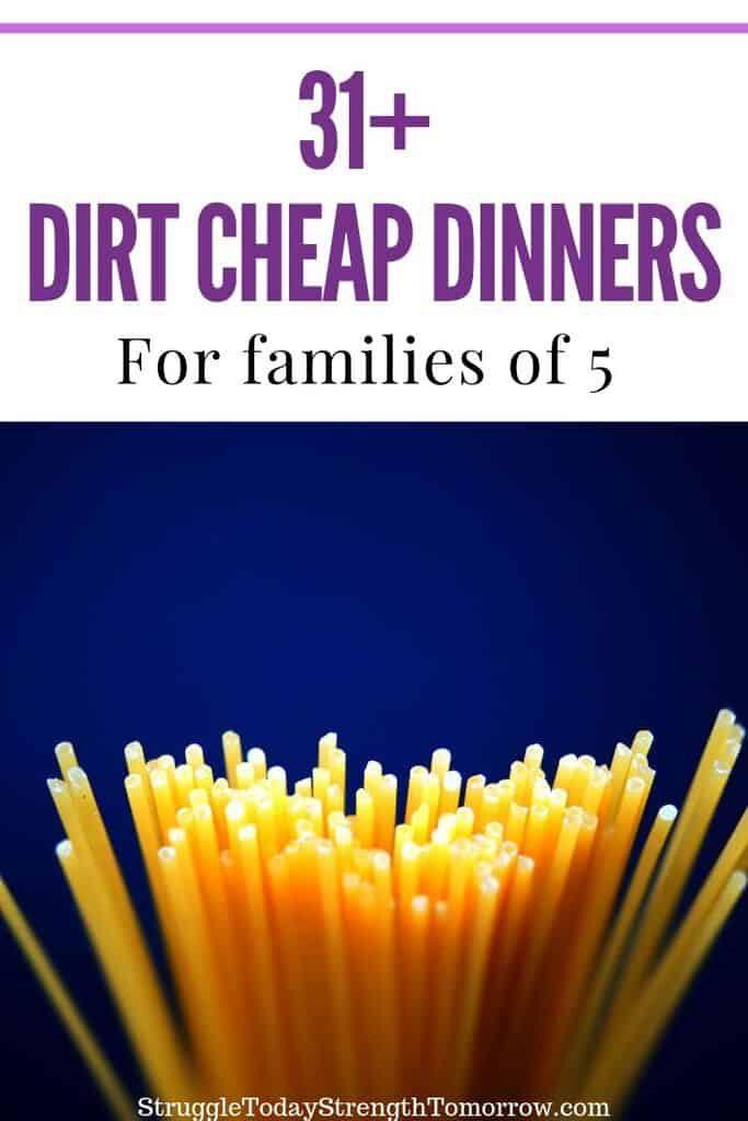 31 comidas frugales muy baratas para alimentar a tu familia con un tamaño de 5 o más. Con tantas ideas geniales, puede reducir la factura de comestibles de su familia con una simple planificación de comidas. #frugalmeals #CheapDinners #CheapRecipes #BudgetMeals #LowCostMeals #FamilyDinners #Healthy #Simple #Fast #KidFriendly
