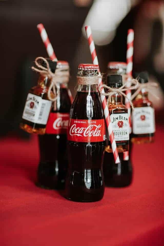 Botella de coca cola favores