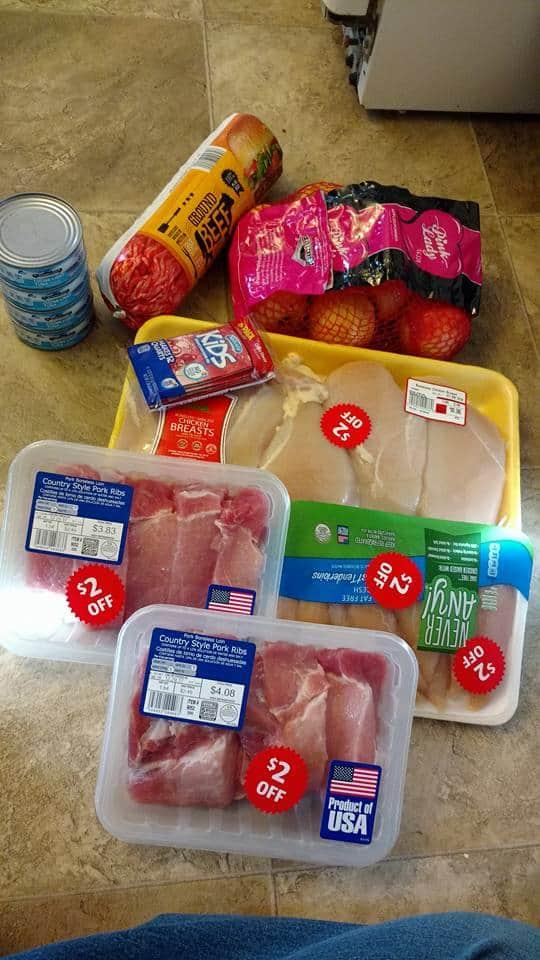 Liquidación de carnes de compras por impulso de Aldi