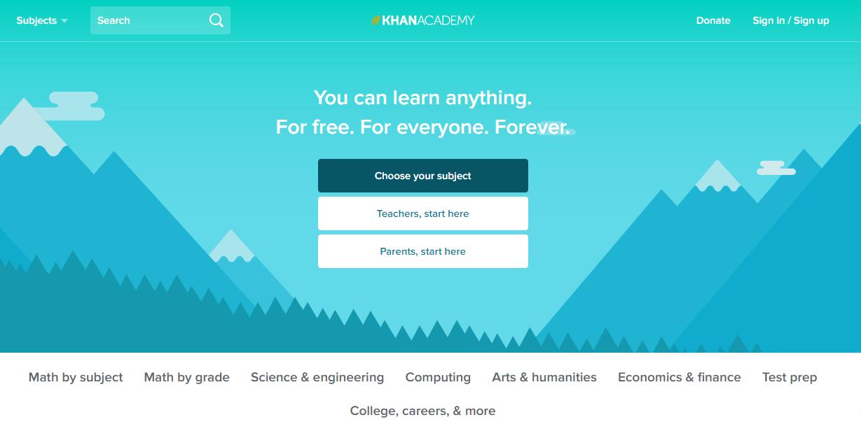 Trabajando de forma remota aprenda en línea Khan Academy