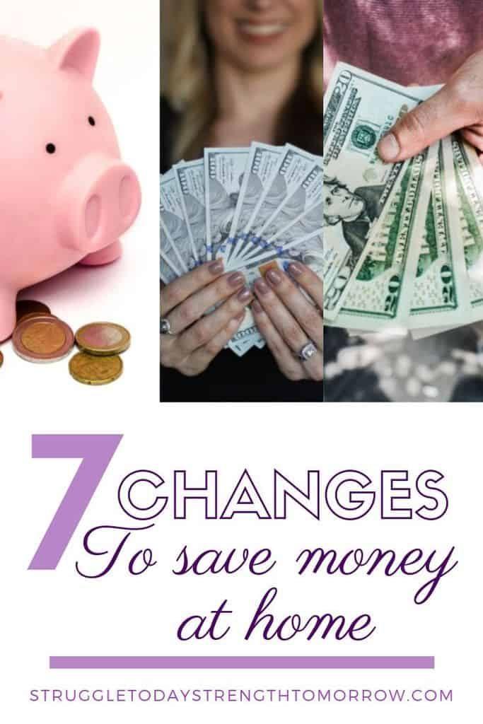 7 cambios para ahorrar dinero en casa. ¡Al elegir mantener el automóvil en el camino de entrada durante un día o elegir café casero en lugar de comprar una taza, realmente puede ahorrar mucho dinero cada año! ¡Mira estos otros consejos increíbles para ayudarte a ahorrar dinero! #Savingmoney # presupuesto #payoffdebt #debtfreejourney #finances #babysteps