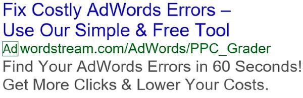 ejemplo de anuncio de texto expandido