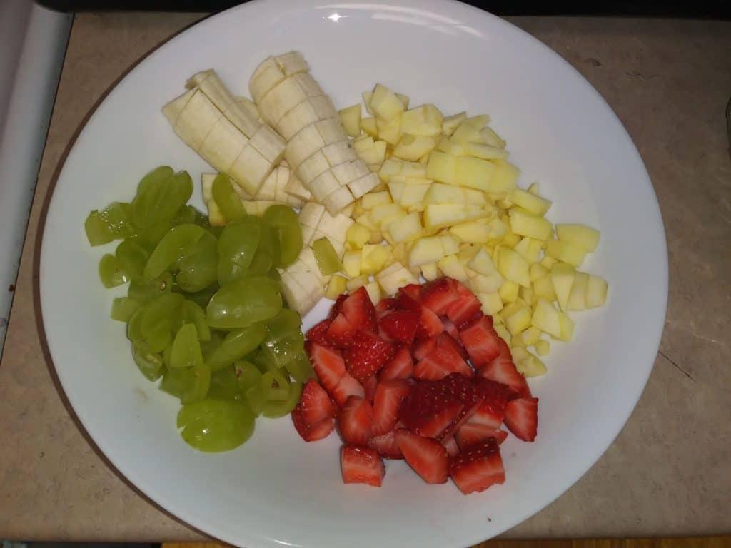 fiesta de vacaciones ensalada de frutas