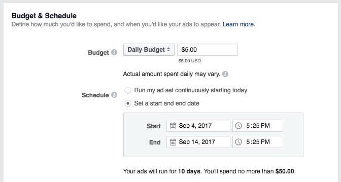 Establece tu presupuesto