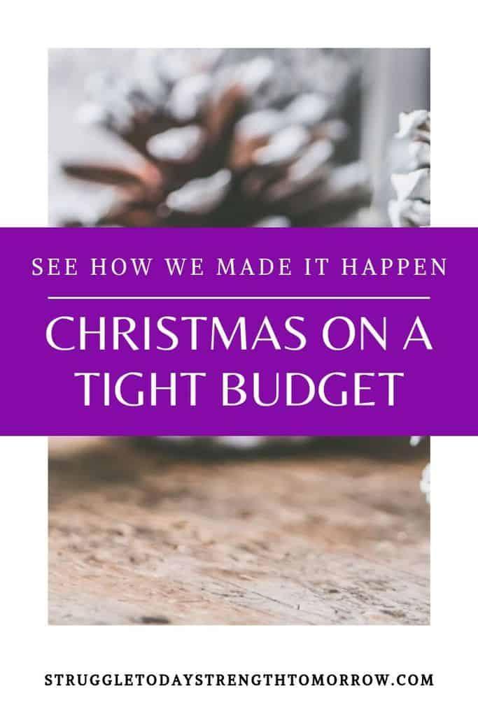 Navidad en un presupuesto ajustado es posible. Haga clic para ver cómo lo hicimos realidad. #christmasbudget #christmas #budget #traditions #family #frugalliving