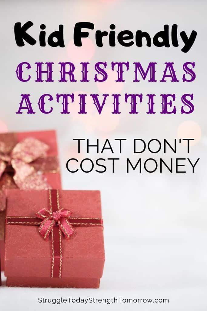 Actividades de Navidad amigables para los niños que no cuestan dinero. Puedes tener toda la diversión y la magia de la Navidad sin el precio elevado que el canal Hallmark te hace creer que es necesario. Echa un vistazo a estas cosas frugales y gratuitas para hacer. #free #christmas #kids #christmastraditions #traditions #frugalfun #budget #savingmoney
