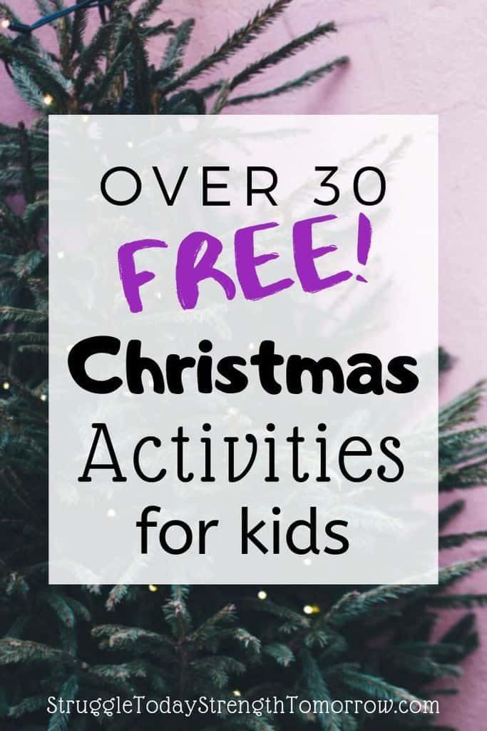 Más de 30 actividades navideñas gratuitas para niños. Perfecto para disfrutar de las vacaciones con un presupuesto ajustado. #free #christmas #kids #christmastraditions #traditions #frugalfun #budget #savingmoney