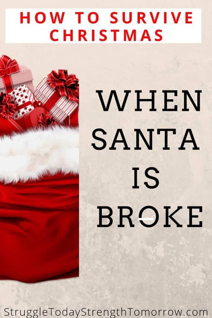 Qué hacer cuando santa está en quiebra y no tiene dinero. Cómo hacer una Navidad amigable con el presupuesto incluso si no tienes dinero. Todavía se pueden hacer recuerdos mágicos sin costar mucho o nada y ¡déjame decirte cómo!