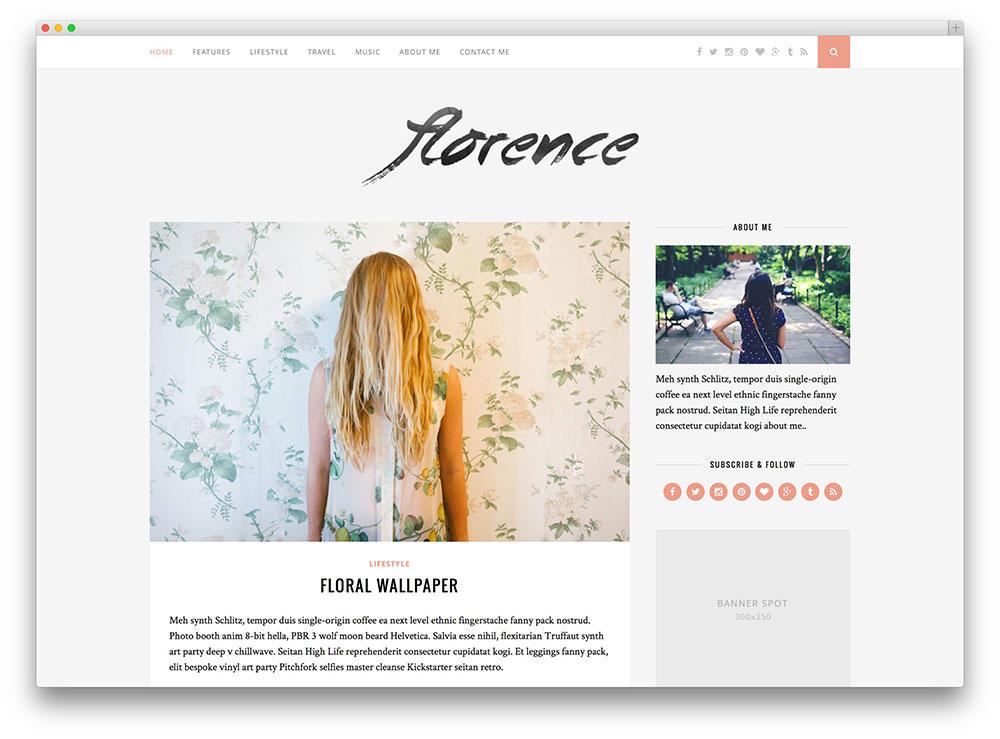 Tendencias de diseño de blogs diseños de blog limpios