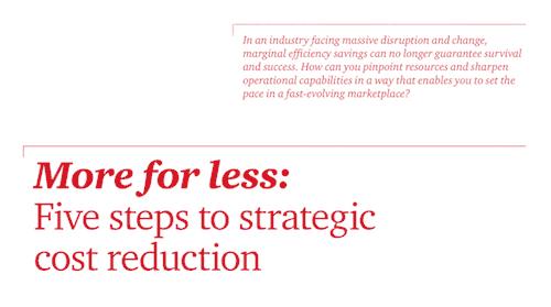 Brinde optimización de costos como un programa estratégico de transformación empresarial