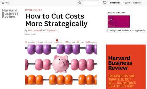 Considere la administración de costos para apoyar la estrategia