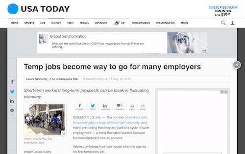 Use trabajadores bajo demanda o temporales