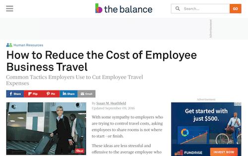 Reduzca los costos de viaje de negocios de los empleados