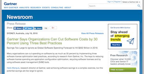 Optimize software configurations