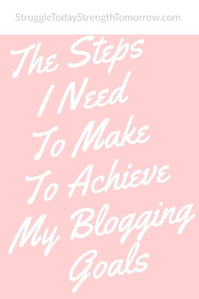 Los pasos que debo seguir para alcanzar mis objetivos de blog este año para la lucha de 2019 hoy fortaleza mañana