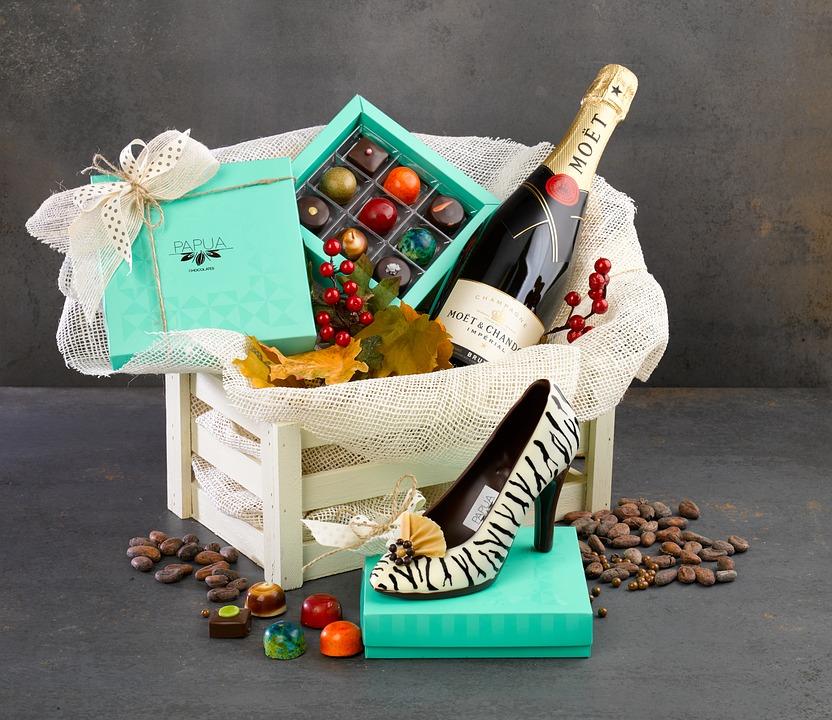 Vender canastas de regalos para las vacaciones como una estancia en casa mamá