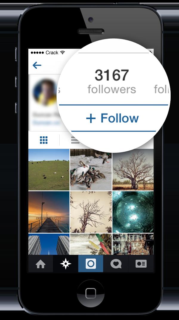 Cuenta de seguidores de regalos de Instagram